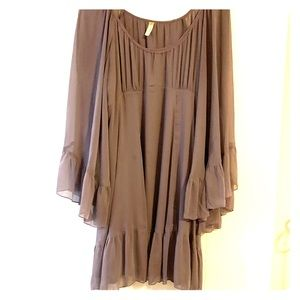 Free people boho hippie peasant sleeve dress